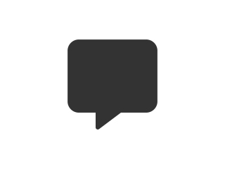Grey speech balloon icon