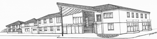 pencil drawing showing the practice