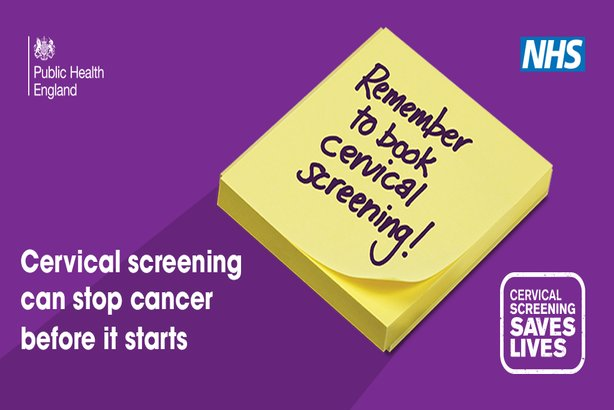 Remember to book cervical screening. Cervical Screening can stop cancer before it starts. Cervical screening saves lives.
