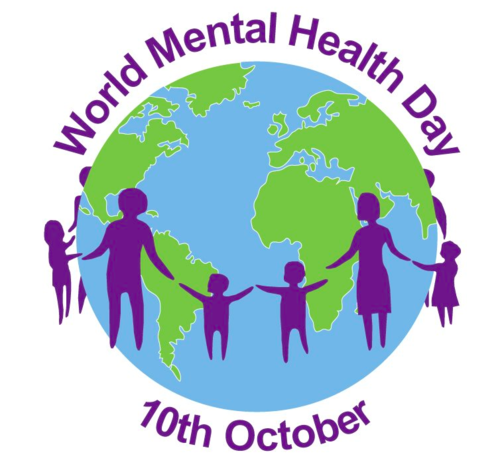World Mental Health Day. 10th October.